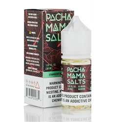 30ml of Pacha Mama Salts Strawberry Watermelon E-Liquid - Hand Made in the USA!